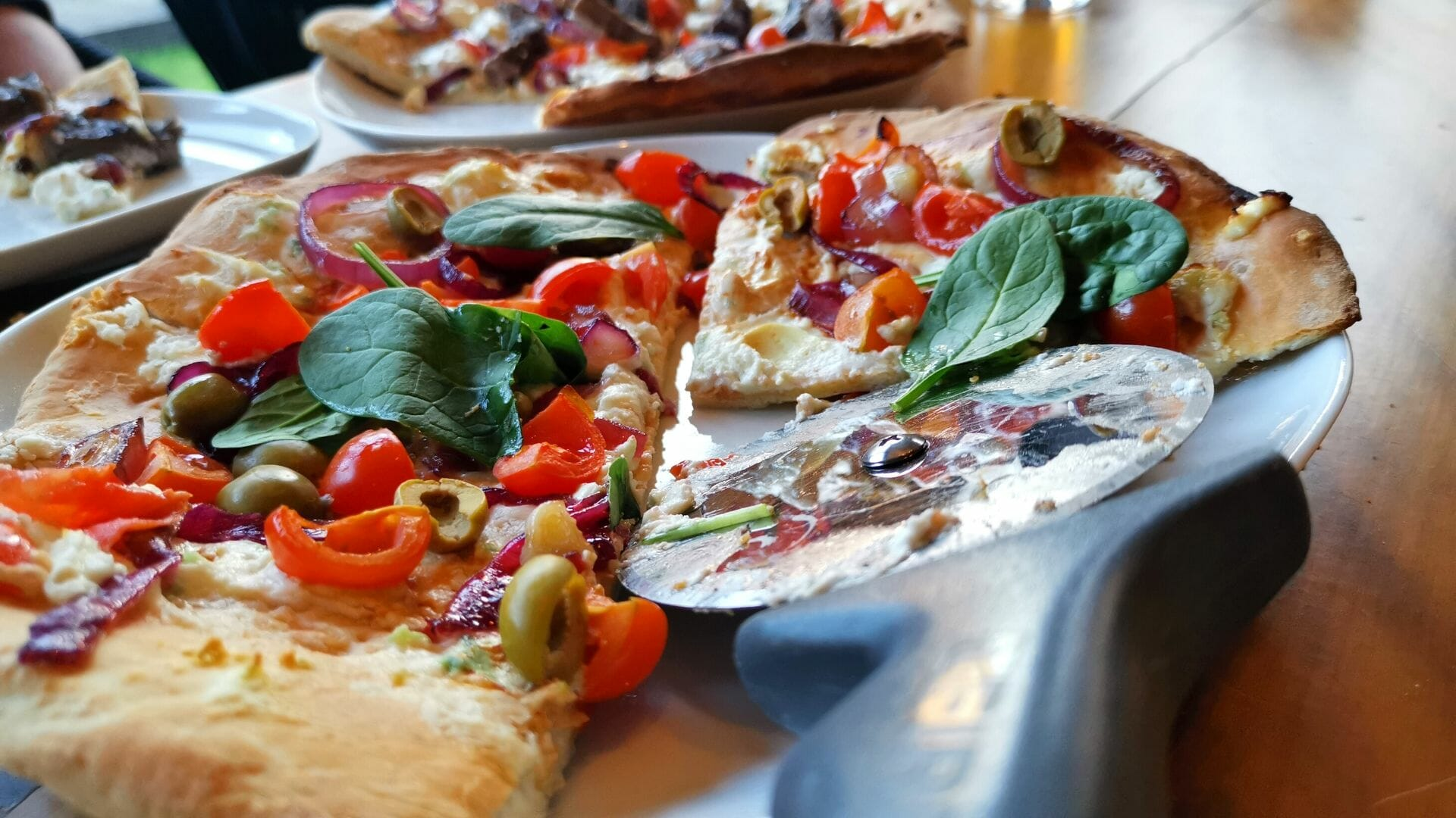 Easy No Yeast Flatbread Recipe With Goat's Cheese, Olives and Red Onion