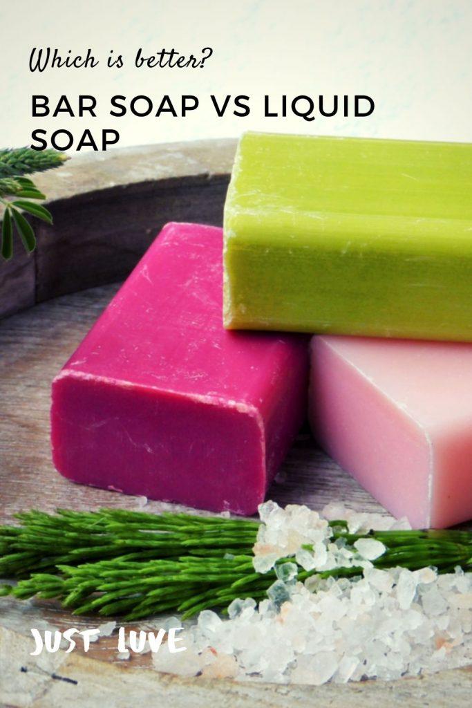 Bar Soap vs Liquid Soap Pin