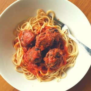 Vegetarian-Spaghetti-Meatballs