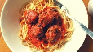 "Vegetarian ""Meatballs"" and Spaghetti"