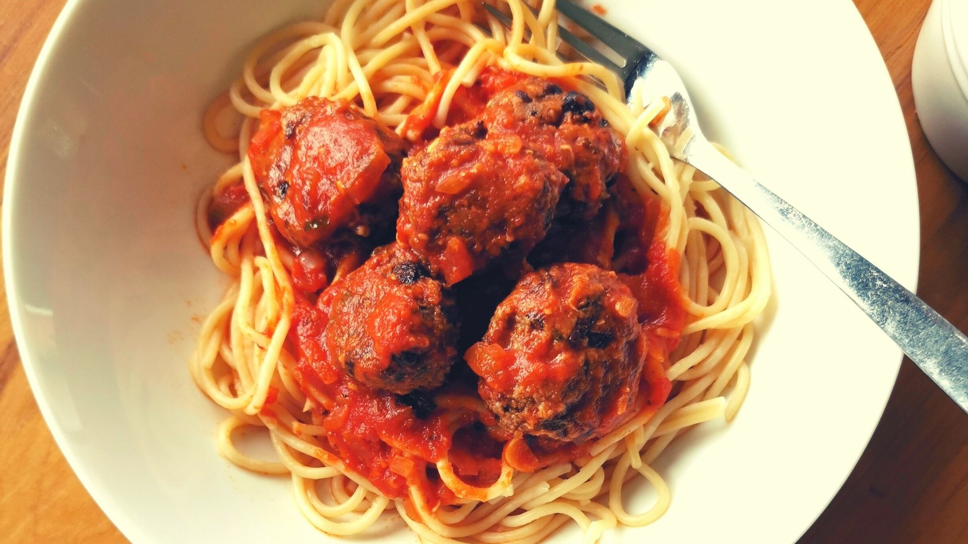 "Vegetarian ""Meatballs"" and Spaghetti"