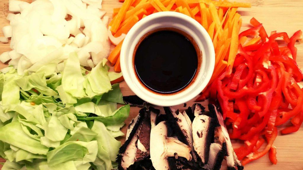 Chopped Yakisoba Vegetables