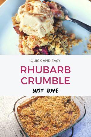 Rhubarb Crumble pin