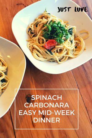 Spinach Carbonara pin4